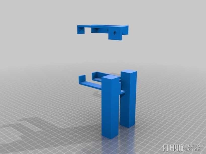 电源支架 3D模型  图2