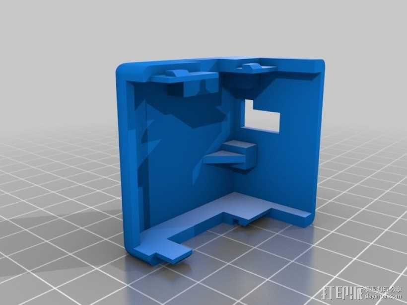 挤出器适配器 3D模型  图2