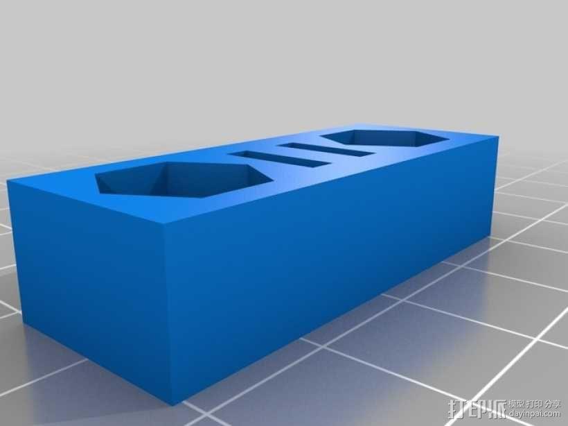 X轴拉紧器 3D模型  图2