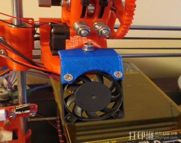 冷却风扇框架 3D模型  图2