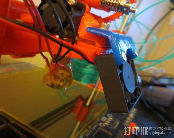 冷却风扇框架 3D模型  图3