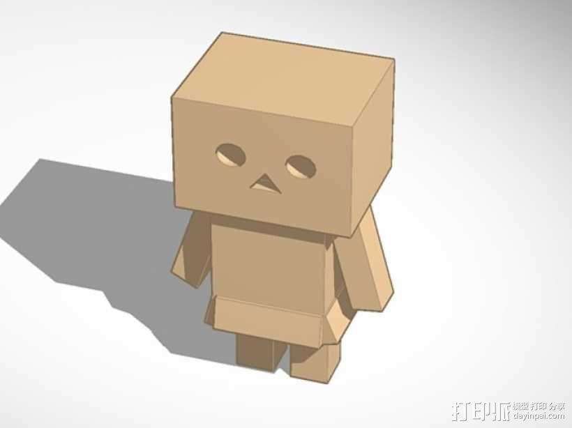 盒子机器人摆件 3D模型  图2