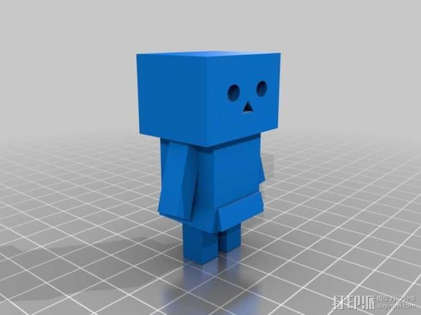 盒子机器人摆件 3D模型  图1