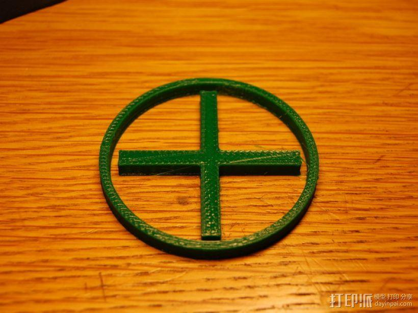 十字和圆圈 3D模型  图1