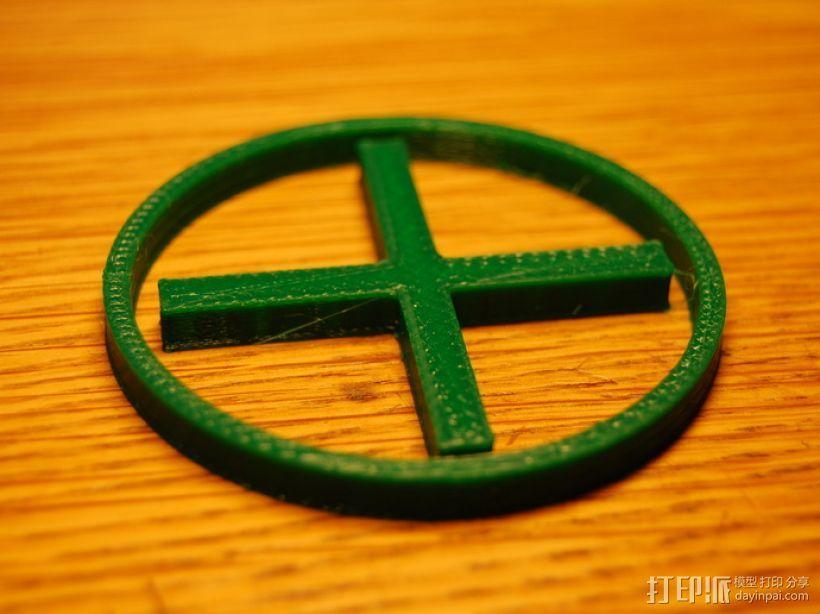 十字和圆圈 3D模型  图3