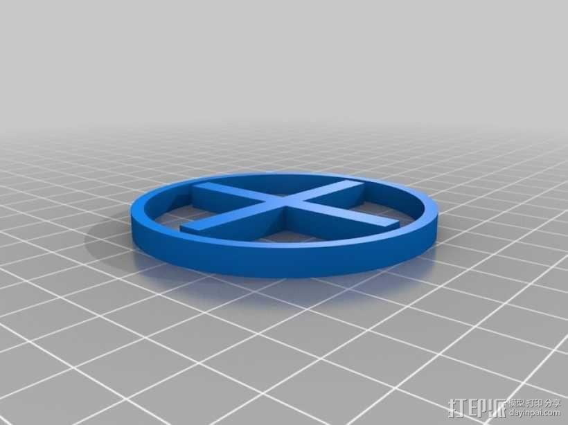 十字和圆圈 3D模型  图2