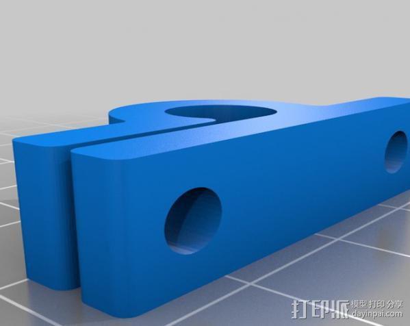 夹杆 3D模型  图1