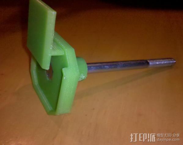 50mm旋转轴夹 3D模型  图4