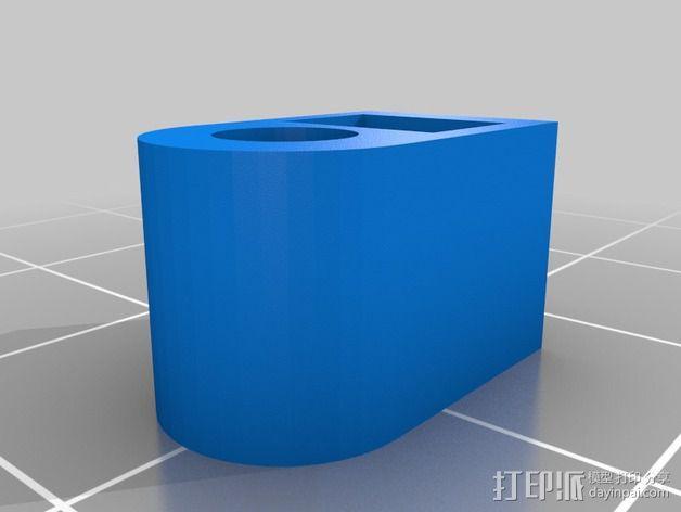 迷你 Kossel 夹 3D模型  图2