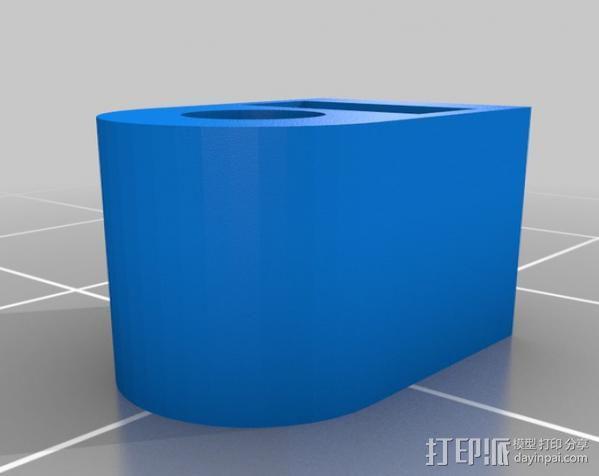 迷你 Kossel 夹 3D模型  图3