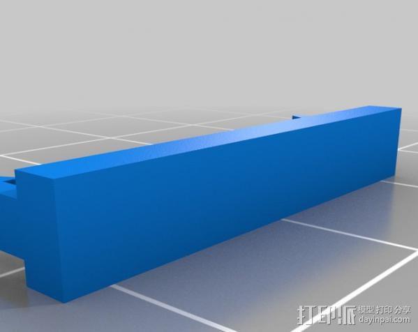 转折线夹 3D模型  图2