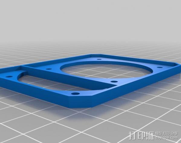 风扇适配器 3D模型  图2