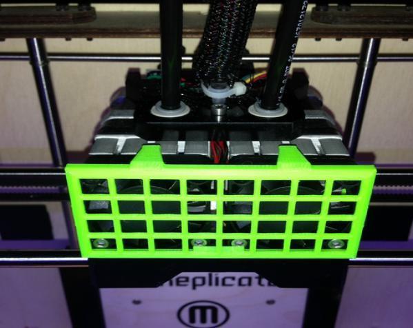 Replicator 1 Dual 打印机风扇罩 3D模型  图2