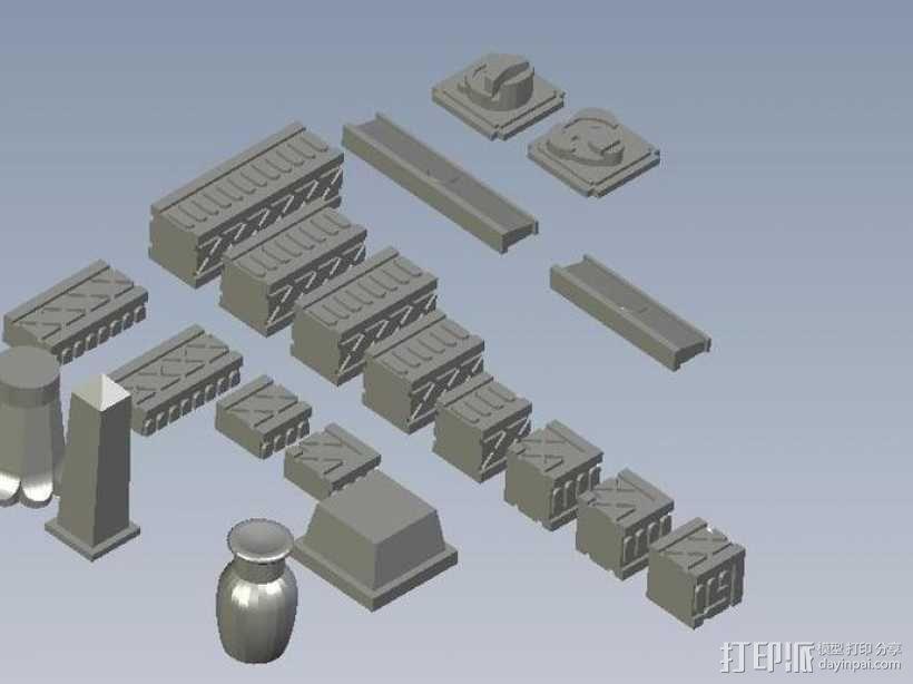 埃及喷泉  3D模型  图1