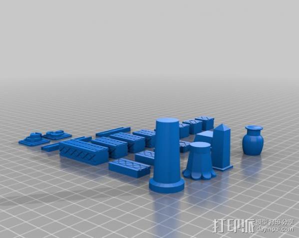 埃及喷泉  3D模型  图2
