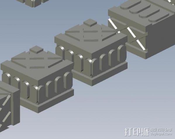 埃及喷泉  3D模型  图3