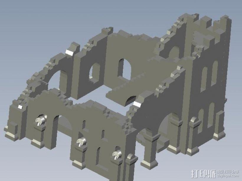 遗迹摆件 3D模型  图1