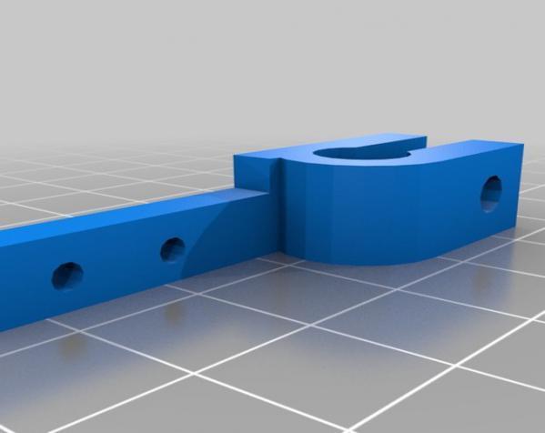 Prusa打印机X Y轴固定器 3D模型  图2