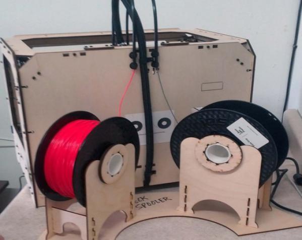 Replicator打印机线轴架 3D模型  图1
