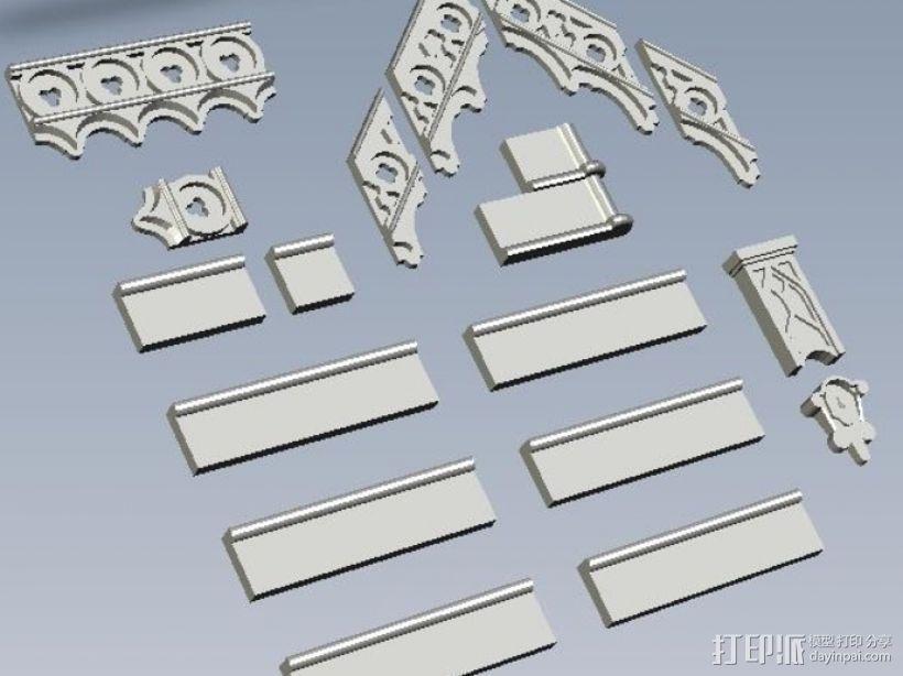 哥特建筑 3D模型  图1