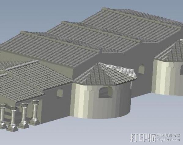 罗马浴场 3D模型  图1