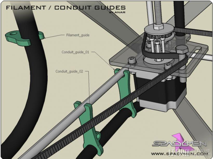 Rapman 3.x打印机导卫管 3D模型  图1