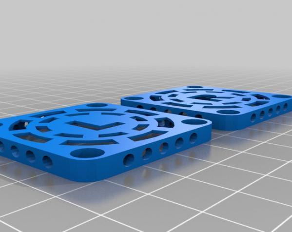 MakerBot Replicator 2X打印机风扇罩 3D模型  图2