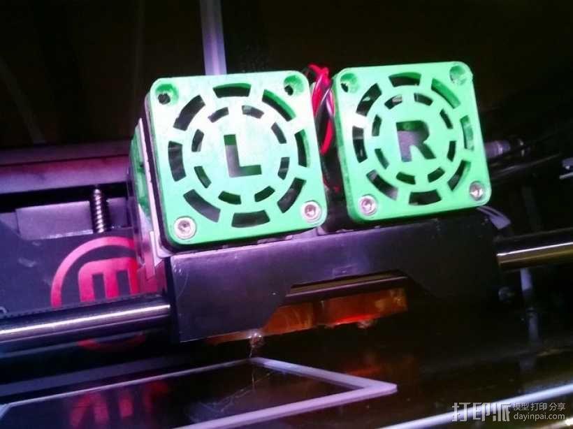MakerBot Replicator 2X打印机风扇罩 3D模型  图1