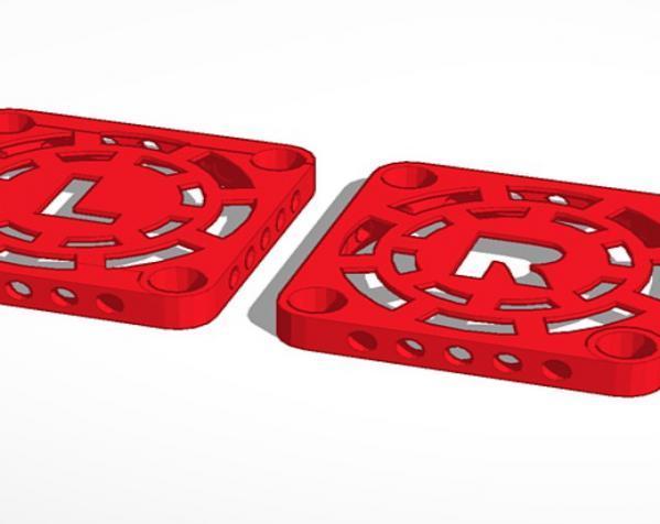 MakerBot Replicator 2X打印机风扇罩 3D模型  图3