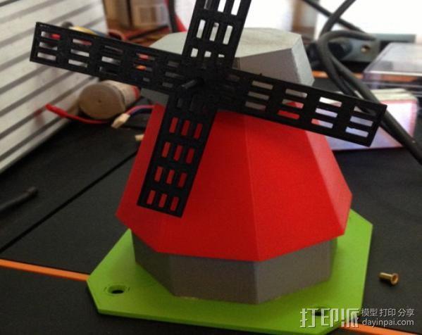 风车模型 3D模型  图1