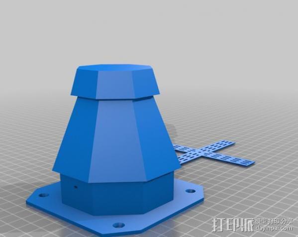 风车模型 3D模型  图2