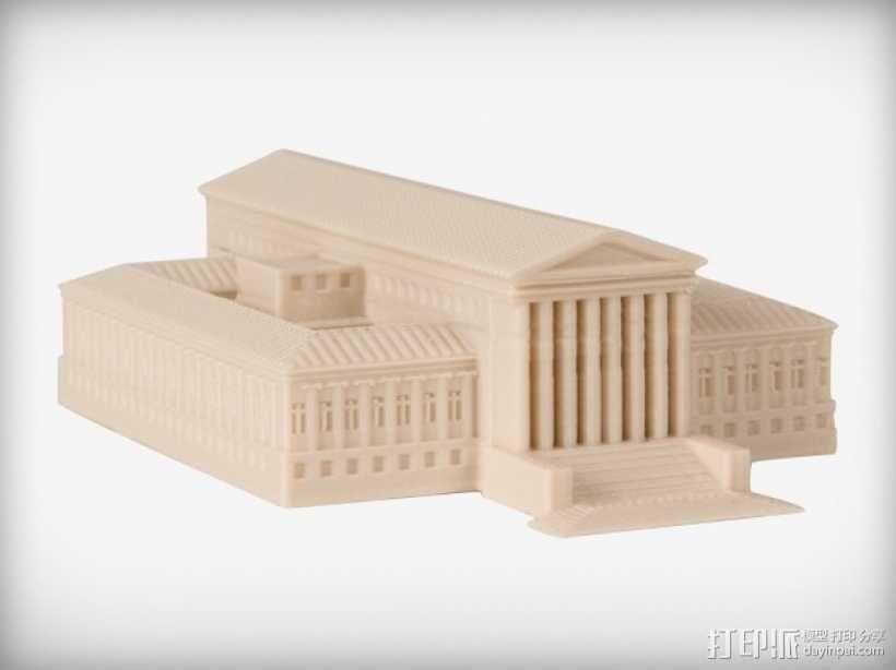 法院建筑 模型 3D模型  图1