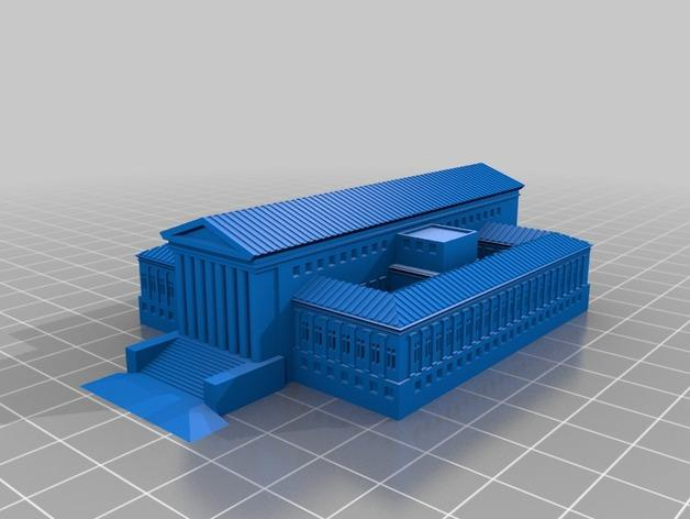 法院建筑 模型 3D模型  图2