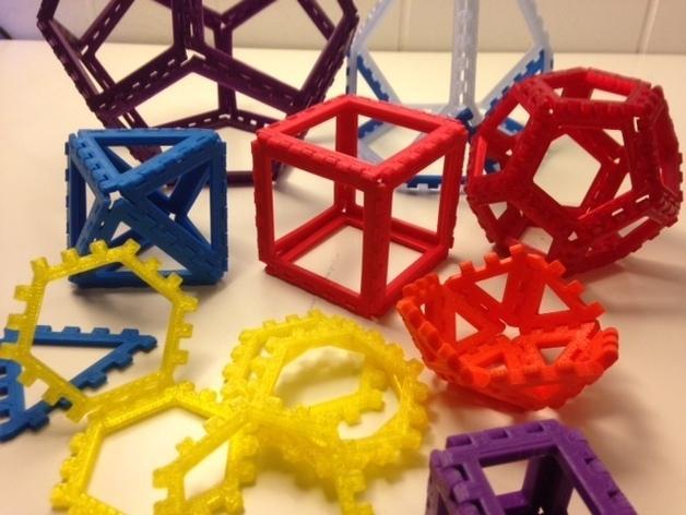 多边形图块 多面体 3D模型  图2