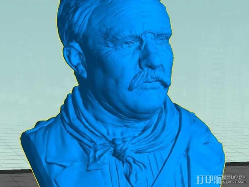 西奥多 罗斯福 3D模型  图1