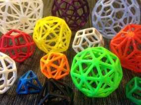 多面体线框几何模型 3D模型