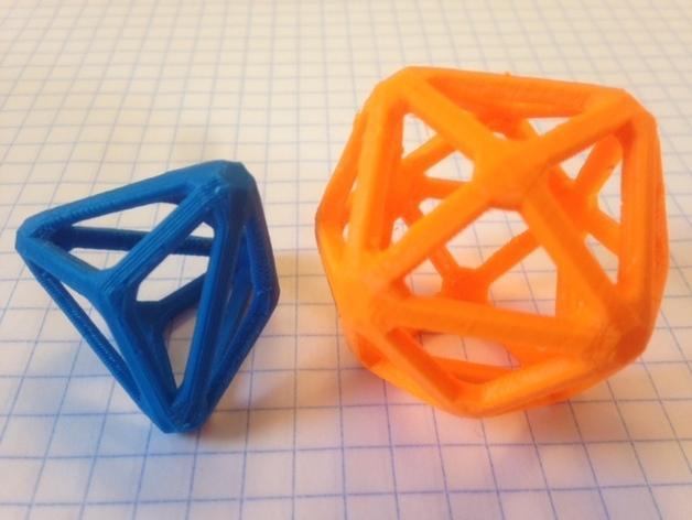 多面体线框几何模型 3D模型  图3