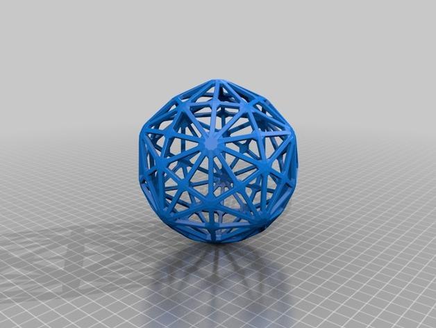 多面体线框几何模型 3D模型  图14