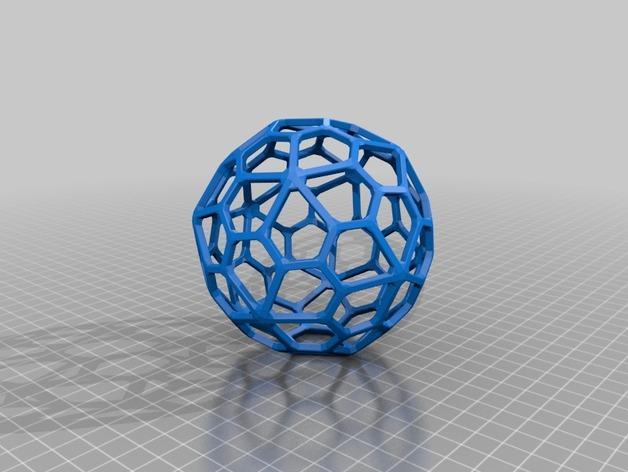 多面体线框几何模型 3D模型  图15