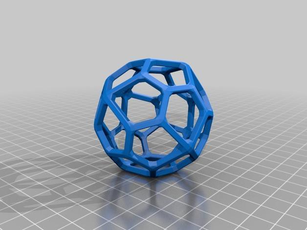 多面体线框几何模型 3D模型  图16