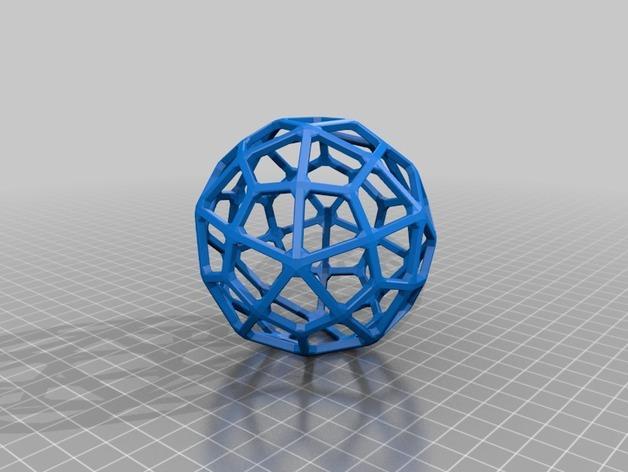 多面体线框几何模型 3D模型  图17