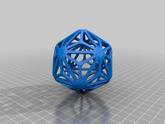 多面体线框几何模型 3D模型  图18