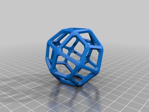 多面体线框几何模型 3D模型  图19