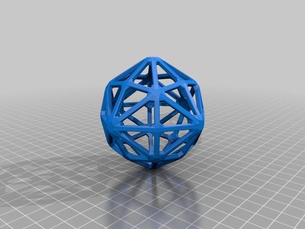 多面体线框几何模型 3D模型  图20