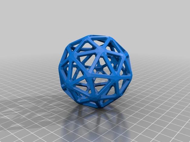 多面体线框几何模型 3D模型  图21