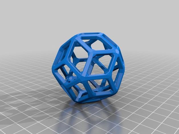 多面体线框几何模型 3D模型  图22
