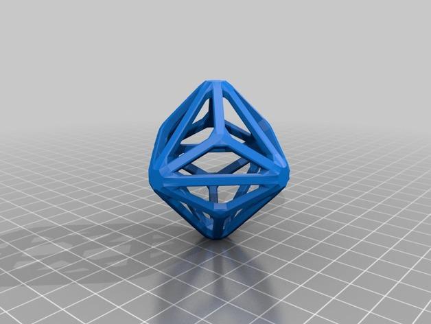 多面体线框几何模型 3D模型  图23