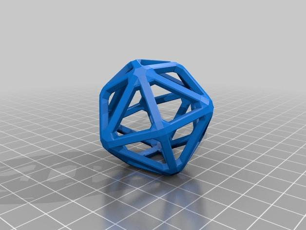 多面体线框几何模型 3D模型  图24