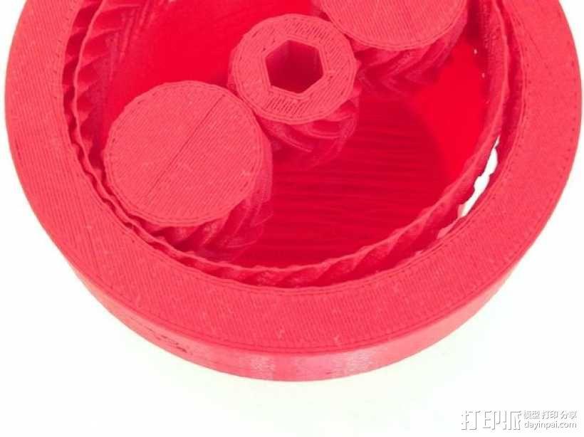 齿轮驱动 3D模型  图1
