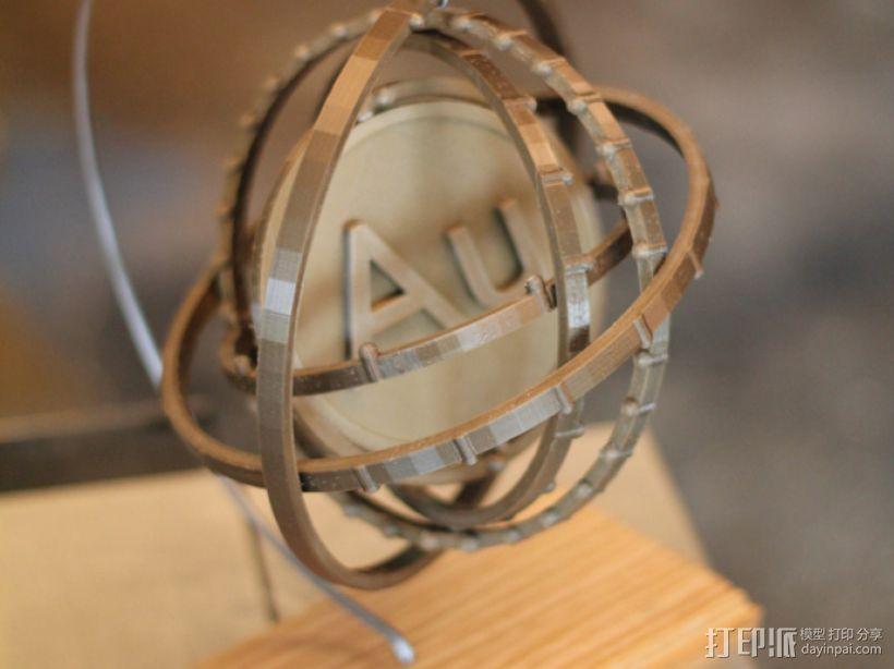 原子 模型 3D模型  图1